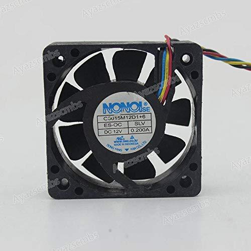 Ayazscmbs 50mm Lüfter Kompatible für NONOISE G5015M12D1+6 12V 0.2A 50 * 50 * 15mm 4pin PWM Car Audio Kühlung Lüfter -