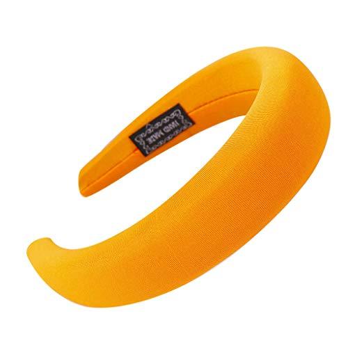 YWLINK Mode Schwamm Sport Haarband Volltonfarbe Damen Haar Kopfband Einfache SüßE MäDchen Stirnband(Orange) -