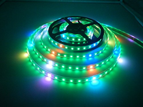WS2812B Strisce led Luce, Dream Color 16.4FT WS2812B 300 leds 5050 RGB SMD Individualmente indirizzabile Striscia led, Pieno Colori Luce a nastro LED DC 5V Impermeabile (Nero PCB)