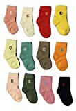 Camey baby cotton pack of 12 socks ( 1-2 Years )