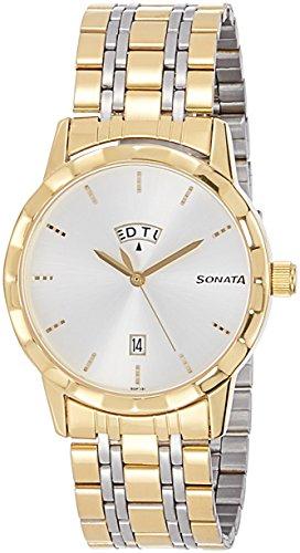 41T7n9B1uDL - Sonata 7113BM01 Silver Mens watch