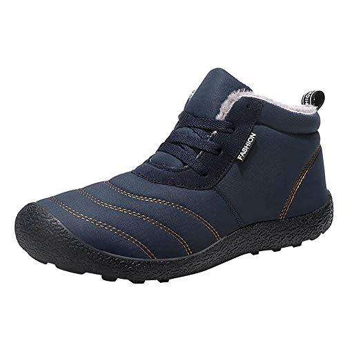 LuckyGirls Botas de Nieve Forrada De Piel Zapatos con Cordones Terciopelo Botines...