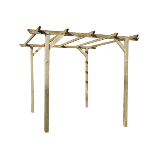 Papillon Pergola 3,0 x 3,0mt Holz 4 Post