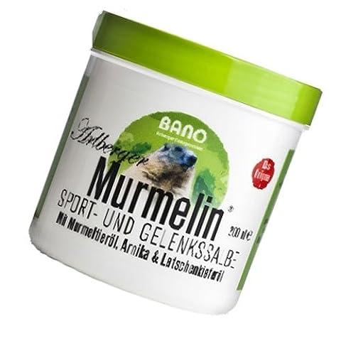 BANO Arlberger Murmelin Sport- und Gelenkssalbe 200ml - Murmeltiersalbe (Voltaren Salbe)