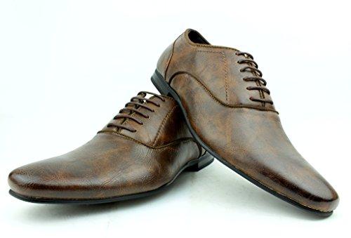 pour Hommes Italien Habillé Chaussures À Lacets Taille 6 pour 11 ROYAUME-UNI Travail Décontracté ECOLE LOISIR AFFAIRES Brun