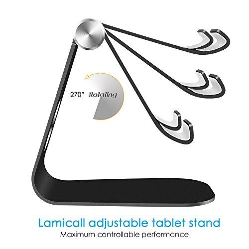 Soporte-Tablet-Metal-Multingulo-Lamicall-Soporte-de-Tablet-Ajustable-de-5-Pulagadas-a-11-Pulgadas-para-Tablets-como-iPad-Huawei-con-Goma-de-Proteccin-Ligero-Estable-Resistente-Negro