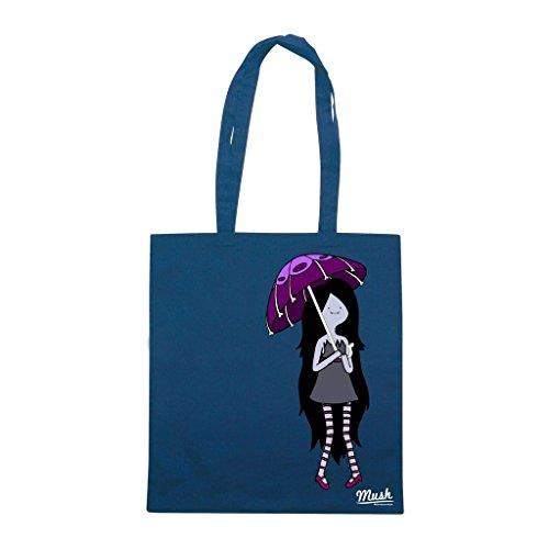 Borsa Marceline La Vampira - Blu Navy - Famosi by Mush Dress Your Style