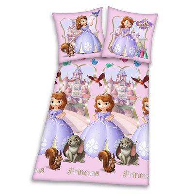 Bettwäsche Sofia die Erste, Kopfkissenbezug 80 x 80 cm und Bettbezug 135 x 200 cm, 100 % Baumwolle, Renforce (Sofia Die Erste-rapunzel)