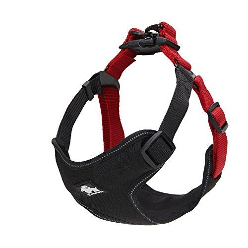 s-Power 3m Reflektierende Keine Pull Hund Nylon Weste Geschirr für Hunde, M, Schwarz/Rot Power Harness