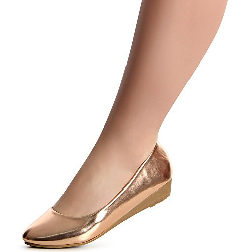topschuhe24, Ballerine donna Rose Gold