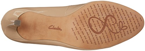 Clarks Carlita Cove, Scarpe con Tacco Donna Beige (Sand Patent)