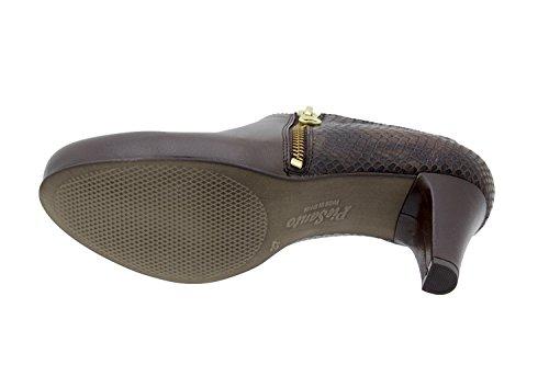 Chaussure femme confort en cuir semelle Piesanto 5233 chaussure habillée comfortables amples Caoba