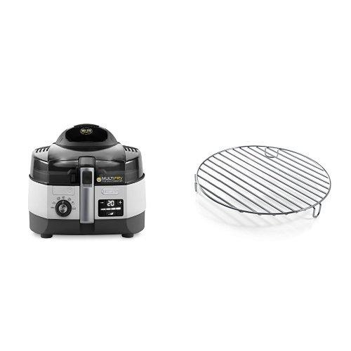 De\'Longhi FH1394/2 Multicooker e Friggitrice, colore Argento/Nero & DLSK104 D.240X33 Griglia in Acciaio Inox