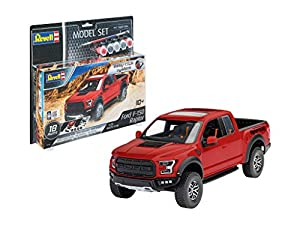 Revell- Model Set 67048 Easy Click Maquette de Ford F-150 Raptor Kit plástico, Color Rojo (