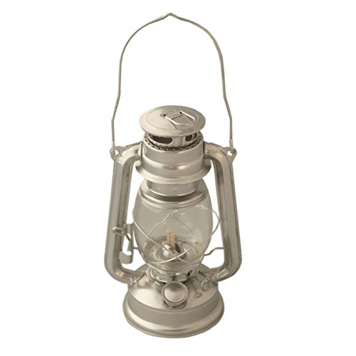 Megaprom 25cm Petroleumlampe Petroleumlaterne Öllampe Sturmlaterne Sturmlampe Campinglampe in Nostalgie Design