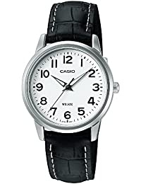 Casio Collection – Damen-Armbanduhr mit Analog-Display und Echtlederarmband – LTP-1303PL-7BVEF