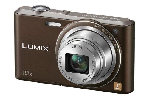 Panasonic DMC-SZ3EG-T Lumix Digitalkamera (6,9 cm (2,7 Zoll) LCD-Display CCD-Sensor, 16,1 Megapixel, 10-fach opt. Zoom, 90MB interne Speicher, USB) chocolate Ccd 2,7