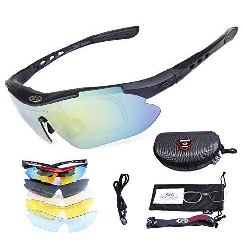 e9a7f8ddb5 Gafas De Sol Hombre Gafas De Ciclismo Gafas De Sol Polarizadas 5 Lentes  Intercambiables Gafas ROCKBROS