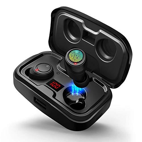 【2019 Neueste】 Bluetooth V5.0 Kopfhörer In Ear Ohrhörer Kabellos Bluetooth Headset mit 3000mAh Ladebox Mikrofon 105 Std Spielzeit Touch-Control HD Stereo Leistungsanzeige Typ-C Port für IOS Android