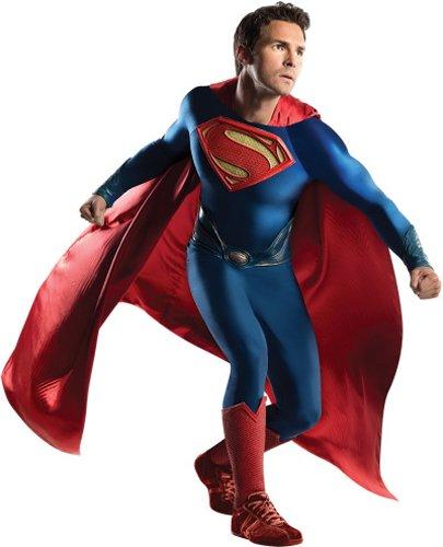 stüm für Herren, Größe:L (Superman Man Of Steel Kostüm)