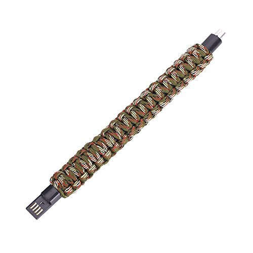 Cewaal Hanbaili Armband-Armband-Mikro-USB-Daten-Ladekabel im Freien Für Andriod Telefone