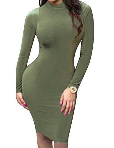 Sarah Dean Newyork - Robe - Robe - Femme vert vert militaire vert militaire