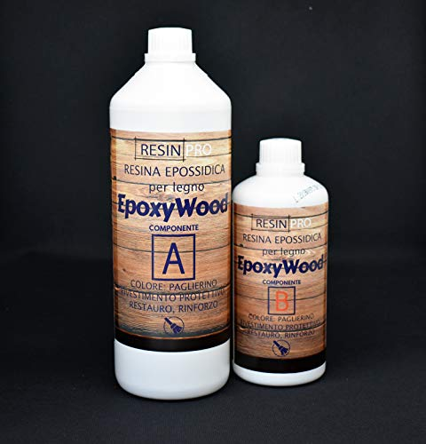 EPOXYWOOD 1.5 KG Resina Epossidica per Legno - Rivestimento protettivo, Restauro, Rinforzo