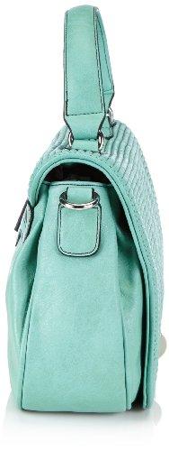 GERRY WEBER Today Flap Bag 4080002523 Damen Umhängetaschen 26x20x9 cm (B x H x T) Türkis (turquoise 500)