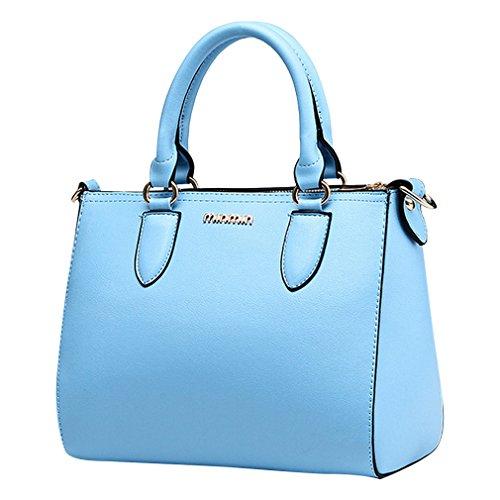 MissFox Borsa Messenger Donna Elegante Cerniera Design Tote Cielo Blu