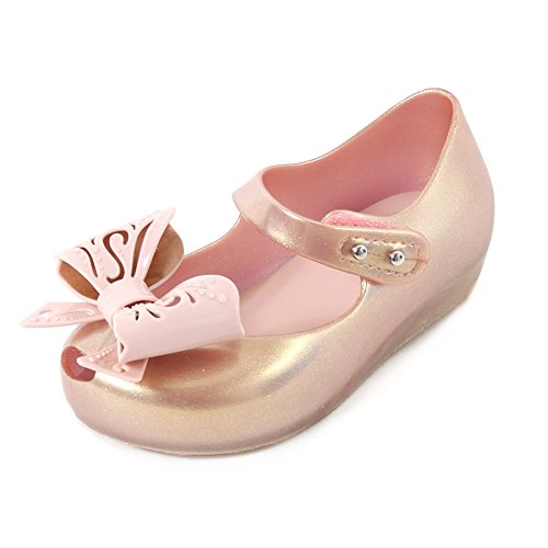 Melissa Mini Infants Ultragirl Fairy Bow Plastic Flat Rose Gold-Gold-6 Size 6