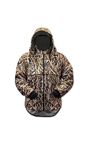 Wasserdichte Winddichte Camouflage Fleece Waterfowl Gear - Eider Jacke, Herren, Mossy Oak Shadow Grass Blades, Large - Gear-fleece-jacke