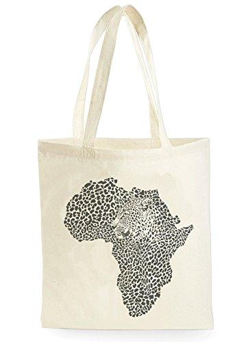 Uk Print King Leopard Africa Map, Einkaufstasche fürs Einkaufen, Picknick, Zuhause, Lagerung und Schule, tote bag (Tote Leopard Print)