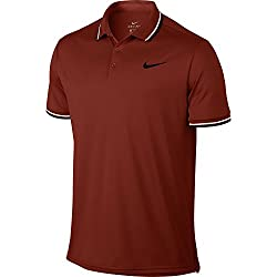 Nike Solid Pq M Nkct Dry Polo Shirt Orange – S