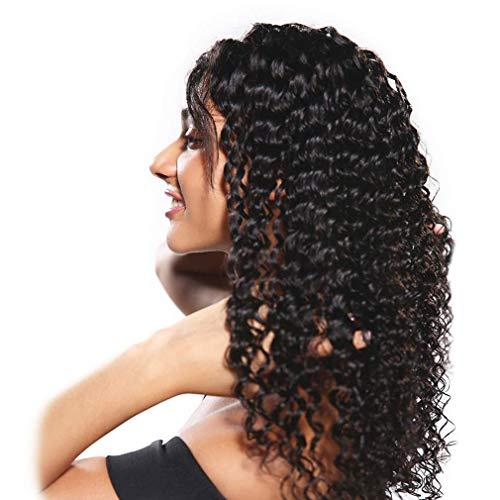 Pelucas de cabello para mujer Peluca frontal de encaje rizado profundo 13x4...