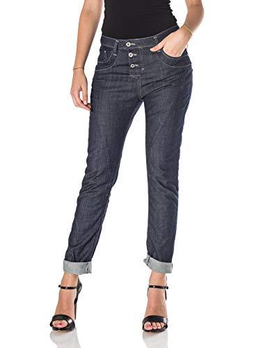 Please, Damen Jeans P78A Baggy, blu Dark Denim (Medium)