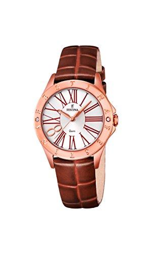 Festina Damen-Reloj analógico de Cuarzo de Cuero F16930/3