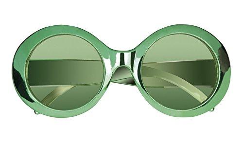 zer Brille 70er Kostüm Sonnenbrille, Grün (Top 5 Halloween Kostüme Für Jungen)