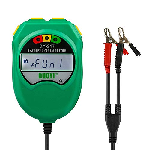 X & Z ZXYAutobatterie Tester 12v 100-1700 Cca Digital Battery Analyzer 2.5 Inch LCD Monitor Car Battery Load Tester Digital Battery Load Tester