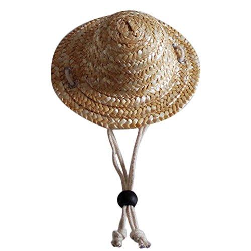 Demarkt Hut Mütze Strohhut für Haustier Katze oder Hunde