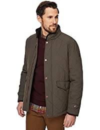 Racing Green Men Big and Tall Khaki Quilted Jacket