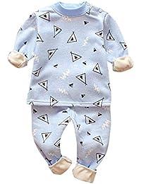 Vovotrade✿ Bambino Autunno e Inverno Casa Set Neonato a Maniche Lunghe più Velluto Zebra Stampa Superiore a Due Pezzi