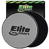 Elite sportz equipment Rumpftraining-Gleitscheiben–2zweiseitige Gleitscheiben für Teppiche und Hartböden–Silber