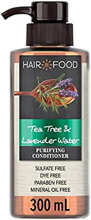 Sulfate Free Conditioner, Dye Free Purifying Treatment, Tea Tree and Lavender Water, Hair Food, 300ml