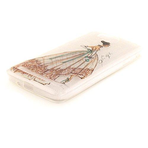 Guran® TPU Silikon Hülle für Apple iPhone 6 6S (4,7 Zoll) Smartphone Gemalt Schutzhülle Cover-Kirschbaum color a45