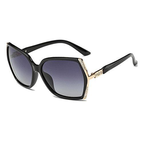 Occhiali da sole oversize con strass per le donne eleganti occhiali da vista con grande montatura per occhiali da vista firmati per gli uomini con custodia