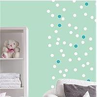 Wandaufkleber DIN A4 Bogen mit 56 Kreisen Punkte Konfetti Wandtattoo Wandsticker Sticker Wanddeko Kinderzimmer Fliesenaufkleber