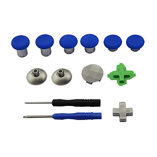 TYewa98556 DIY Controller Joystick Trigger Buttons Thumbsticks Kits für Xbox One Elite PS4, Rot ohne Tasche Blue without Bag -