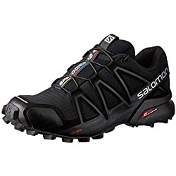 Salomon Women''s Speedcross 4 - Zapatillas Para Mujer, Negro (Black/Black/Black Metallic), 36 2/3 EU