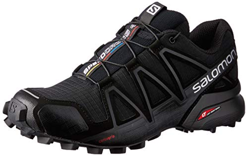 Salomon Speedcross 4 W, Scarpe da Trail Running Donna, Nero (Black/Black/Black Metallic) , 37 1/3 EU