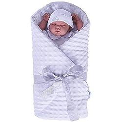 Sevira Kids-Saco para bebé Minky-Color blanco